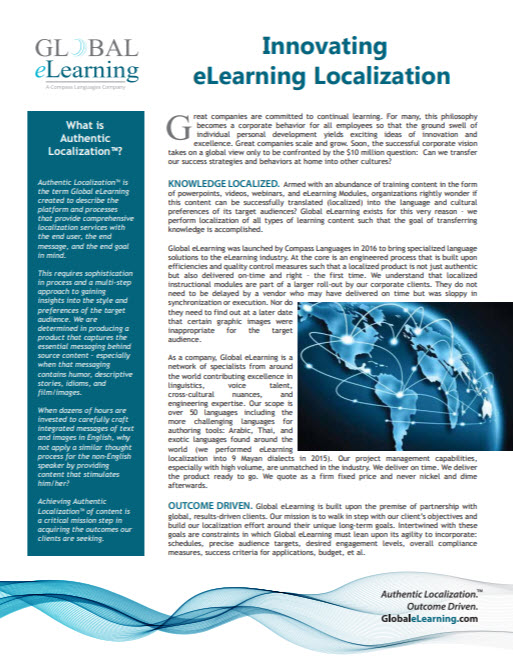 Innovating eLearning Localization